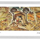 NC Wyeth Mural Apotheosis of the Family Wilmington Savings Postard