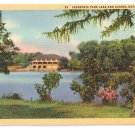 Cazenovia Park Lake and Casino Buffalo NY Curteich Postcard Linen