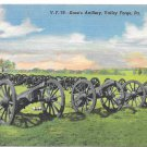 PA Valley Forge National Park Knox Artillery Cannon Vintage Postcard Military