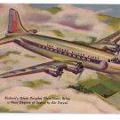 Great Douglas Silverliner Eastern Airlines Skymasters Vntg Aviation Postcard