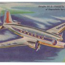 Eastern Airlines Douglas DC-3 Great Silver Fleet Vintage Aviation Postcard