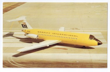 Braniff Airways Dallas Love Airfield BAC-111 203AE Aircraft Aviation Postcard