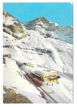 Switzerland Alps Jungfraujochbahn Train Eiger Glacier Vtg Postcard 4X6