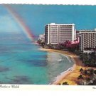 Hawaii Sheraton Waikiki Hotel Rainbow Sunrise Vtg 1974 Postcard 4X6 HI