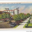 Ocean City NJ Beautiful Residential Street New Jersey Vintage 1945 Linen Postcard