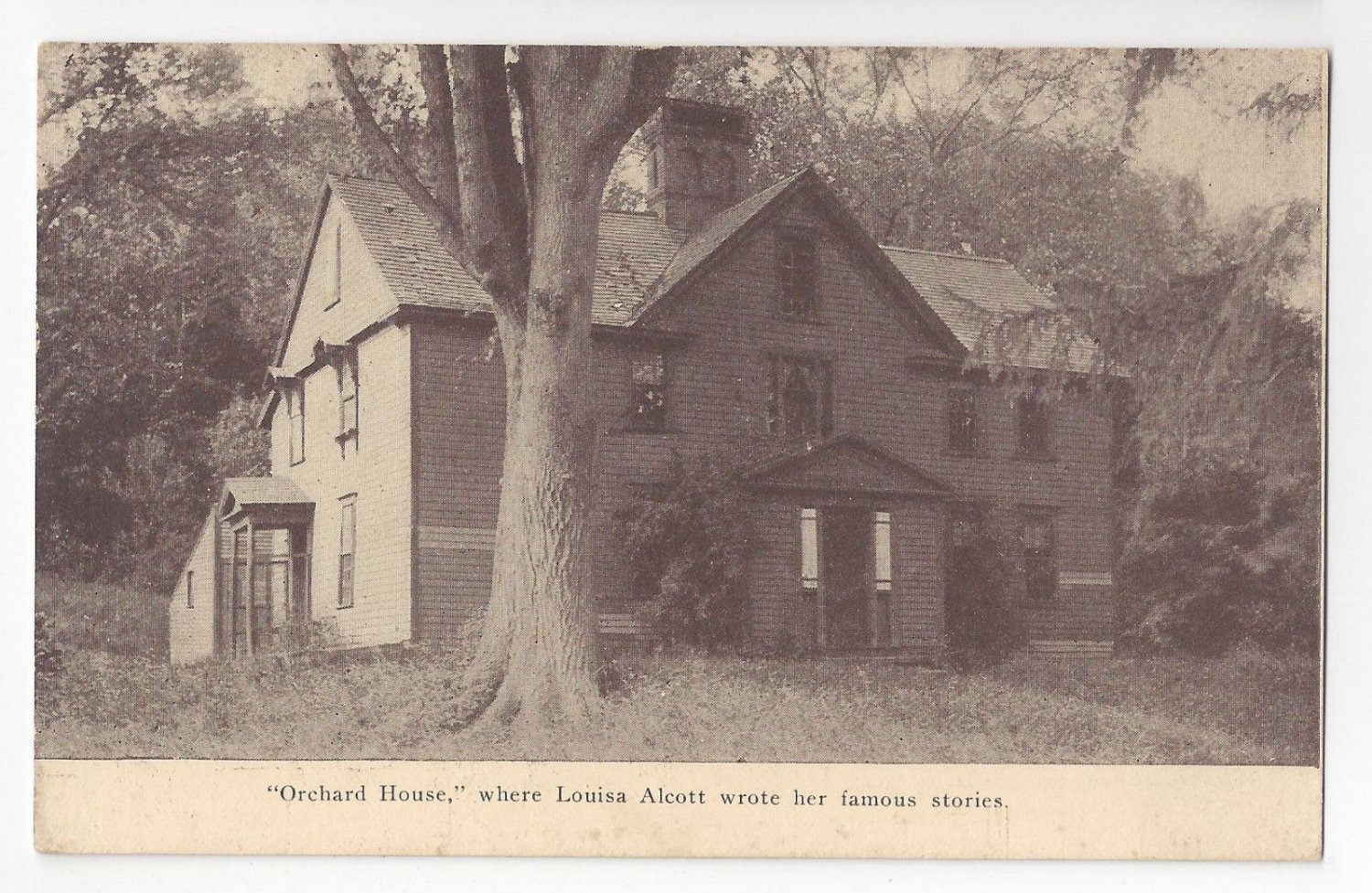 MA Concord Orchard House Residence of Louisa May Alcott Vintage Tanner Postcard