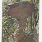PA Eagles Mere Ticklish Rock Sullivan County Vintage Vannucci Postcard 1973
