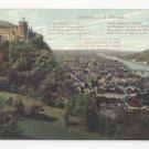 Germany Heidelberg from the Terrasse Poem Postcard Vintage ca 1910