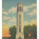 MI Detroit Nancy Browns Peace Carillon Belle Isle Vtg 1943 Linen Postcard