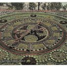 Edinburgh Scotland Floral Clock West Princes St Gardens Vntg Valentines Postcard