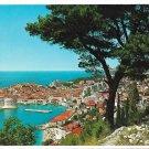 Croatia Dubrovnik Jugoslavia Birds Eye View Vtg 4X6 Postcard