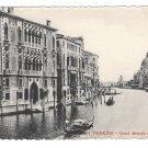 Italy Venezia Canal Grande dall Accademia Gondola Vintage Venice Postcard