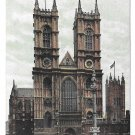 UK London Westminster Abbey Church Postcard Vintage