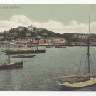 UK Devon Torquay from the Pier Sail Boats C Way ca 1905 Vintage Postcard