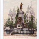 Utah Pioneer Monument Salt Lake City Mormons Vintage UDB Postcard