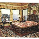 San Simeon CA Hearst Castle Mansion Cardinal Richelieu Bed Vtg Postcard