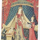 French Tapestry Panel Detai Lady and Unicorn My Sole Desire 1973 Postcard 4X6