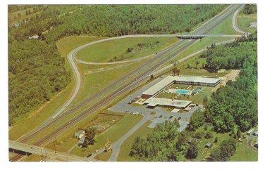 Holiday Inn Motel Newburgh New York Aerial View Vintage Hotel Postcard