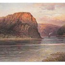 Germany Rhine River Loreley Rock Hoursch & Bechstedt Vintage Postcard