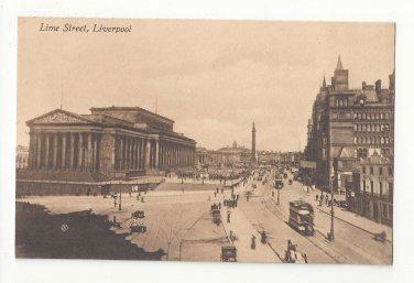 UK England Liverpool Lime Street St Georges Hall NW Railway Hotel Vintage Postcard