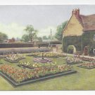 UK England Sulgrave Manor Rose Garden George Washington Vtg Board Postcard