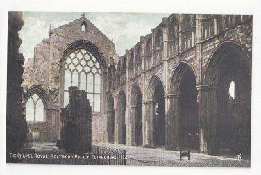 Scotland Edinburgh Chapel Royal Holyrood Palace Vtg Postcard