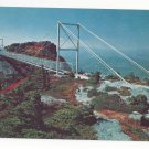 NC Grandfather Mountain Mile High Swinging Bridge Linville Peak Vintage Postcard