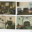 Philadelphia PA American Flag Betsy Ross House Interiors Lot of 4 Postcards