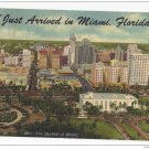 FL Miami Skyline Just Arrived Vintage 1955 Linen Postcard