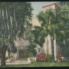 FL First Presbyterian Church Fort Lauderdale Florida Curteich Vintage Linen Postcard