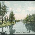 Glen Falls NY Crandall Park UND Vintage German Litho Postcard New York
