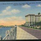 Murray Boulevard Charleston SC Vintage Curteich Linen Postcard 1940