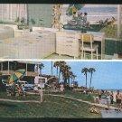 Monterey Motel Daytona Beach FL Dual View Int Ext Vintage 1956 AAA Postcard