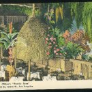 Cliftons Pacific Seas Restaurant Olive St. Los Angeles CA Linen Vintage Postcard