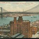 Williamsburg Bridge New York City NY Union News 1911 Postcard