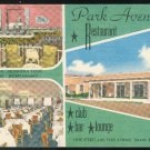 Park Avenue Restaurant Miami Beach Fla Multi view  MWM Litho Linen Unused Postcard