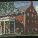 Waynesboro VA General Wayne Hotel Vintage Tichnor Linen Postcard