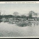 Lake at Rock Garden Elizabethtown PA Masonic Homes  Vintage Linen Postcard