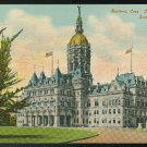 CT Hartford State Capitol South Side Vintage Leighton Postcard Postally unused