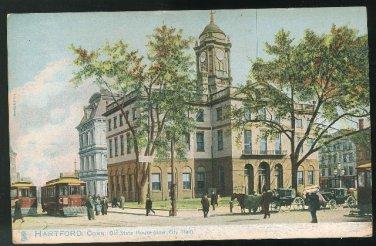 Hartford CT Old State House (New City Hall) Vintage Raphael Tuck UND ca 1905 Postcard