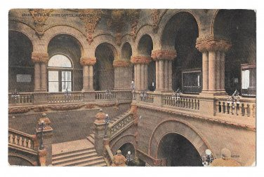 Albany NY State Capitol Grand Staircase Vintage 1911 Postcard