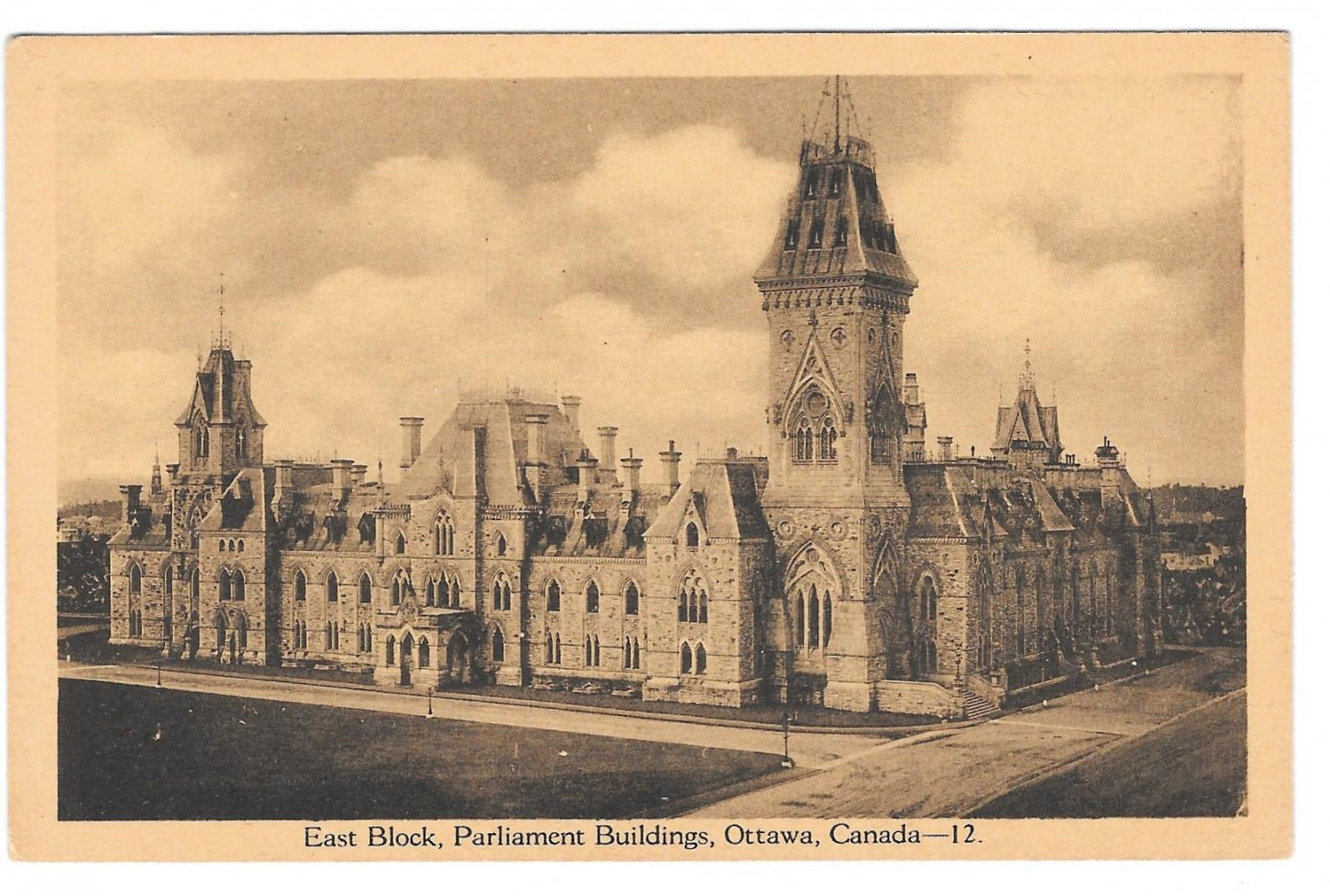 Ottawa Canada Parliament Buildings East Block PECO Vintage Postcard