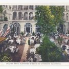 CA Riverside California Glenwood Mission Inn Spanish Patio Restaurant Vintage Postcard