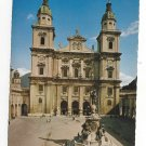 Austria Salzburg Cathedral Square Statue of Virgin Mary Der Dom Vintage Postcard 4X6