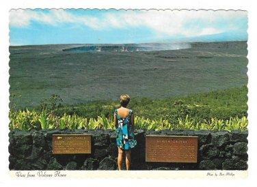 HI Halemaumau Crater Hawaii Volcanoes National Park Vtg Postcard 4X6