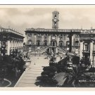 Rome Italy Roma RPPC Il Campidoglio Piazza Capitol Hill Vtg Real Photo Postcard