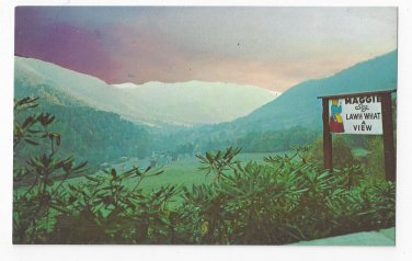 NC Rt. 19 Maggie Valley  Great Smoky Mountains Sunrise Vintage Postcard