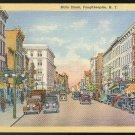 Main Street Poughkeepsie NY Vintage 1937 Curteich Linen Postcard