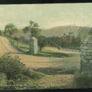 Entrance to Boulevard on Mt Penn Reading PA Vintage Postcard 1911 Flag Cancel