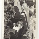 RPPC NY New York City Aerial View Manhattan Rockefeller Center Mainzer Real Photo Postcard